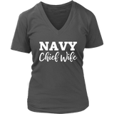 Navy Chief Wife WomenS VNeck Tee