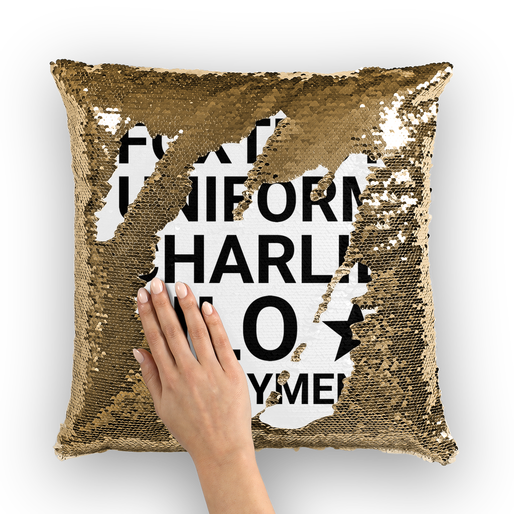 F*ck Deployment Mermaid Sequin Pillow