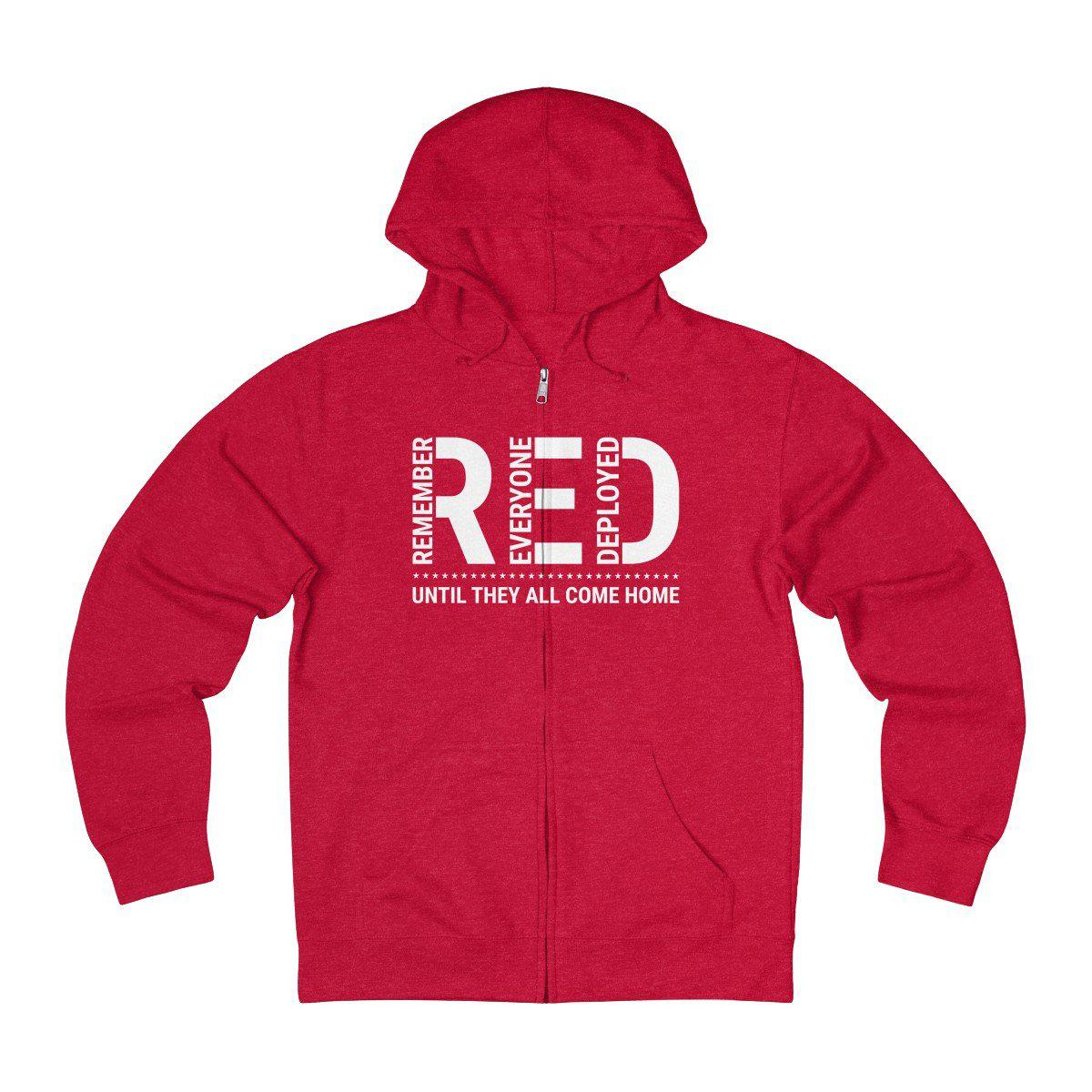 Remember Everyone Deployed Zip Up Hoodie