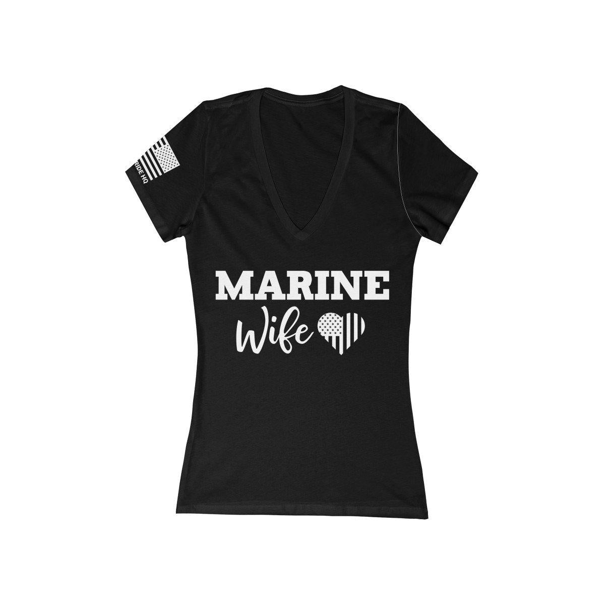 Marine Wife Women's V-Neck Tee