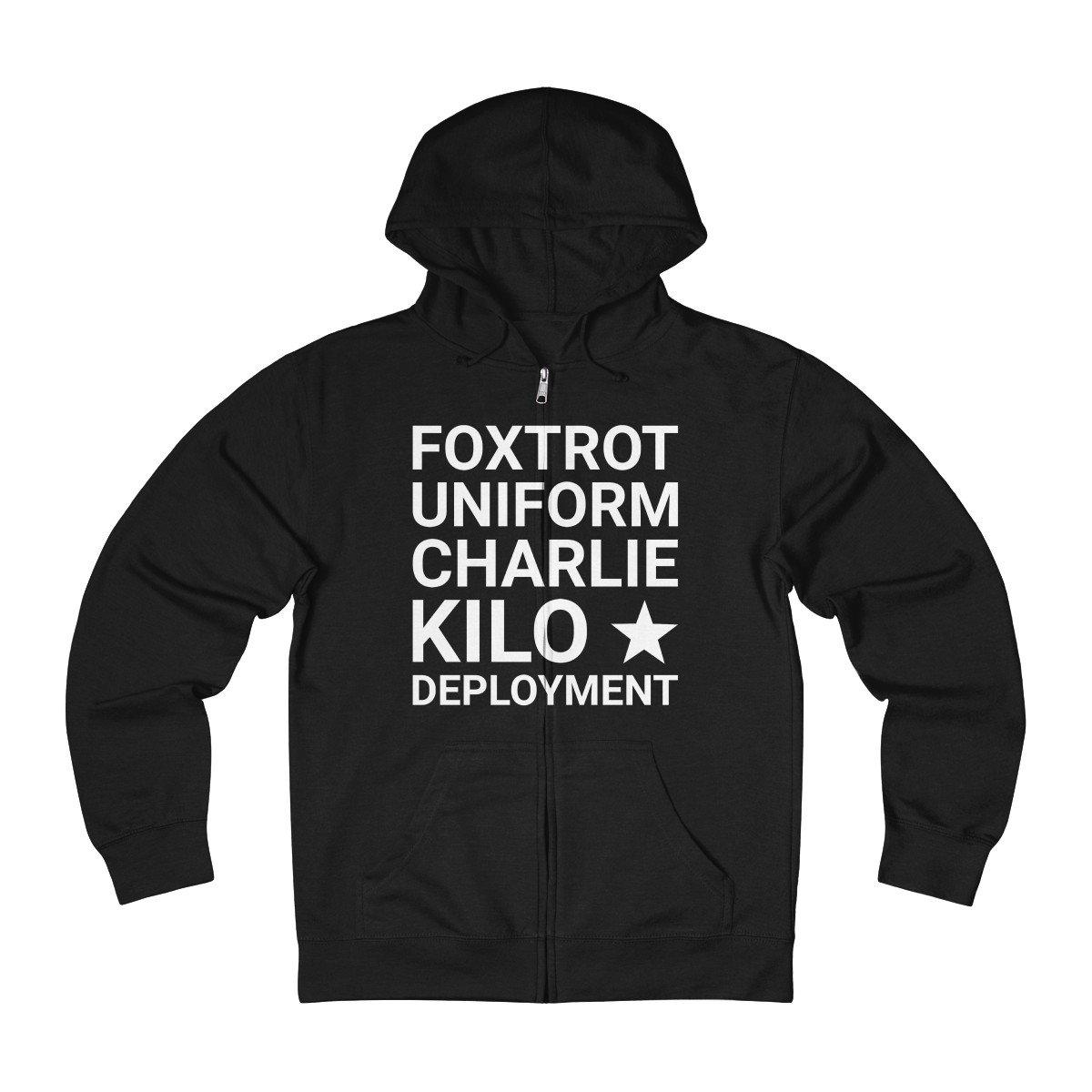 F*ck Deployment French Terry Zip Up Hoodie