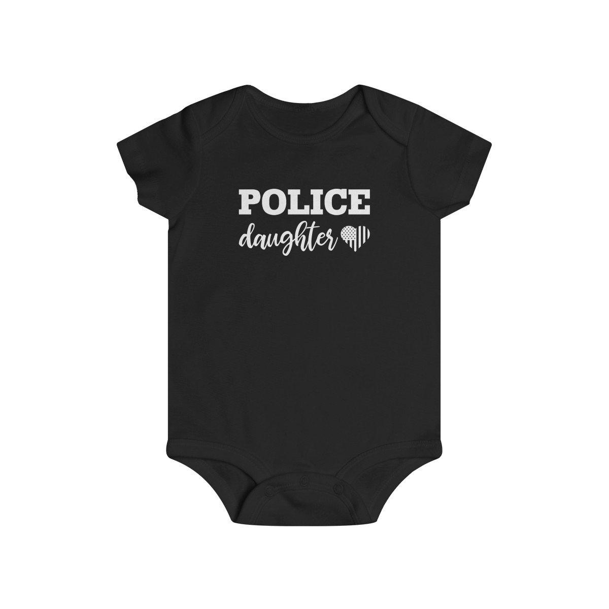 Police Daughter Infant Rip Snap Tee