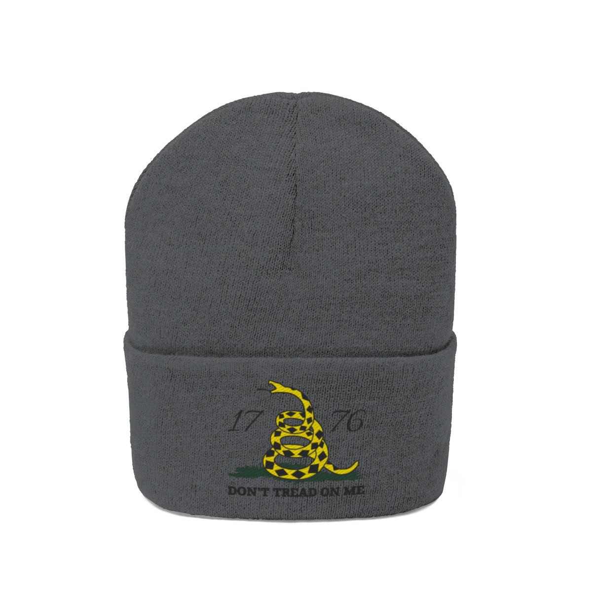 Don't Tread on Me Embroidered Knit Beanie