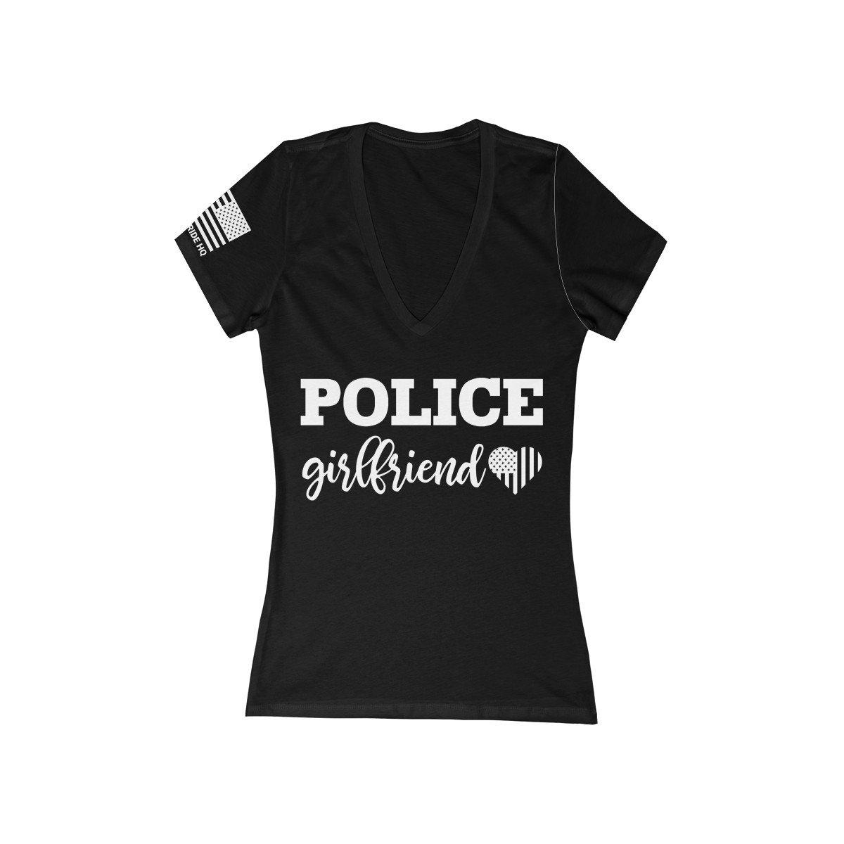 Police Girlfriend Women's V-Neck Tee