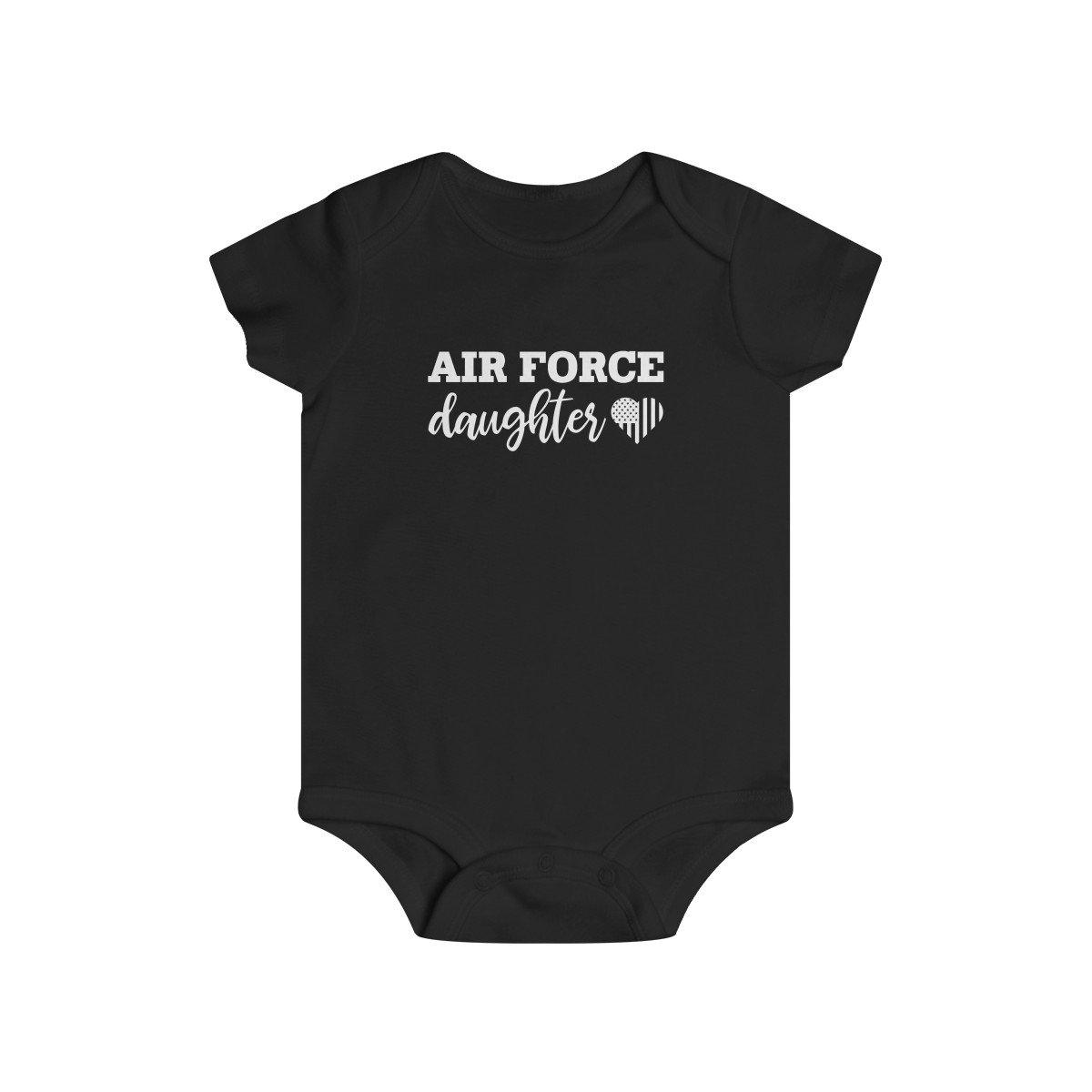 Air Force Daughter Infant Rip Snap Tee