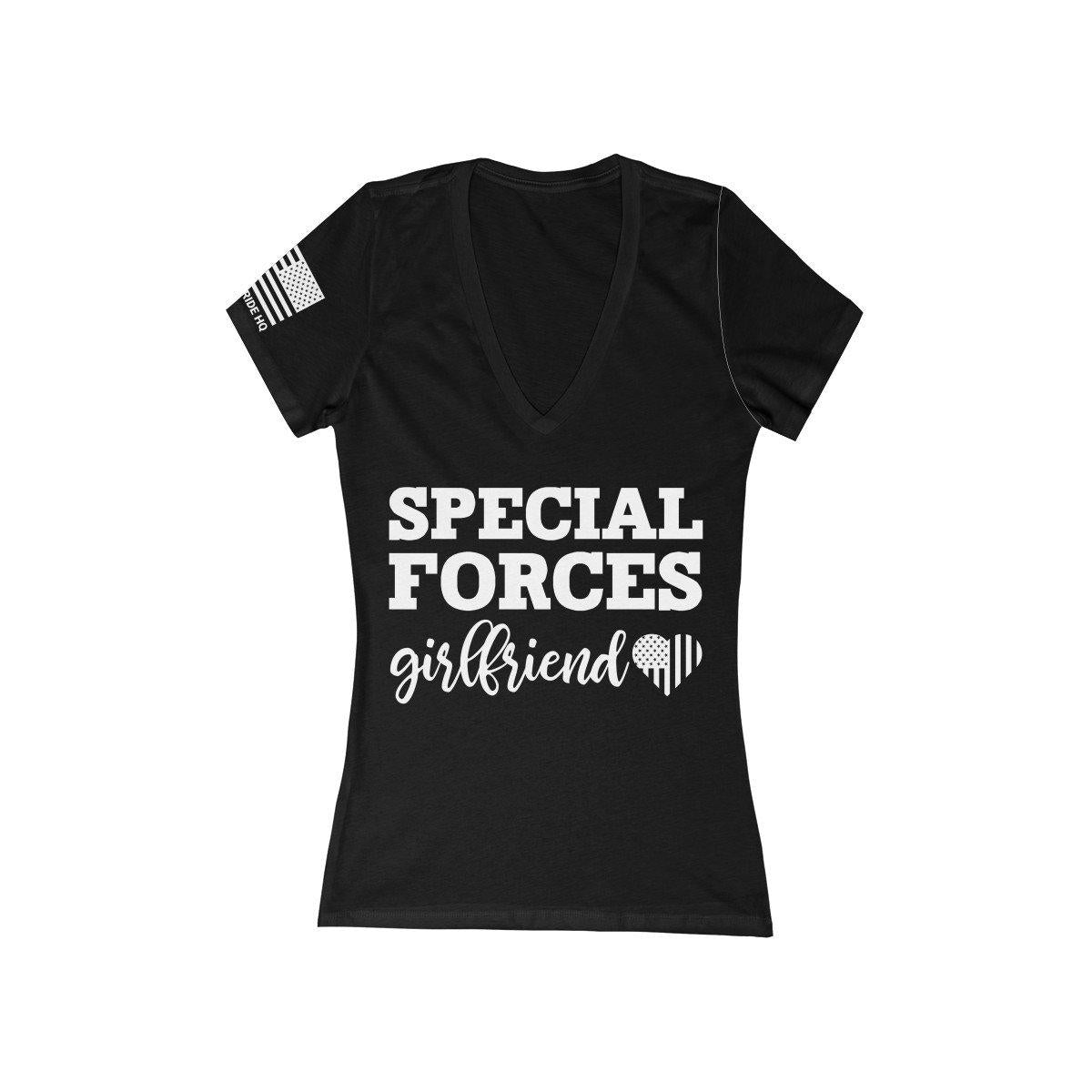 Special Forces Girlfriend Women's V-Neck Tee