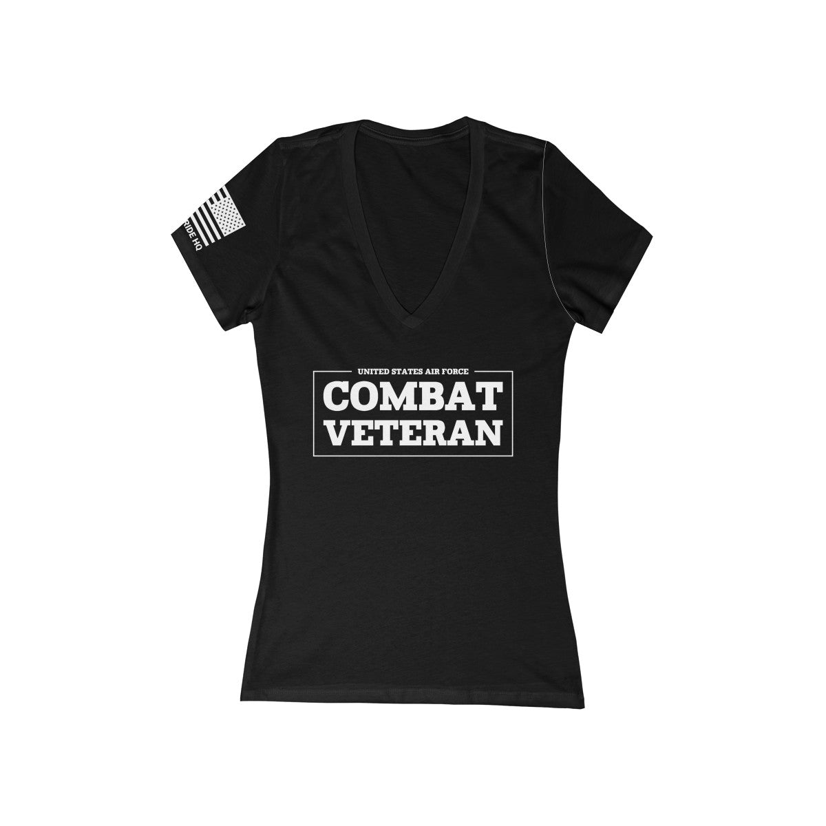 United States Air Force Combat Veteran Women's V-Neck Tee