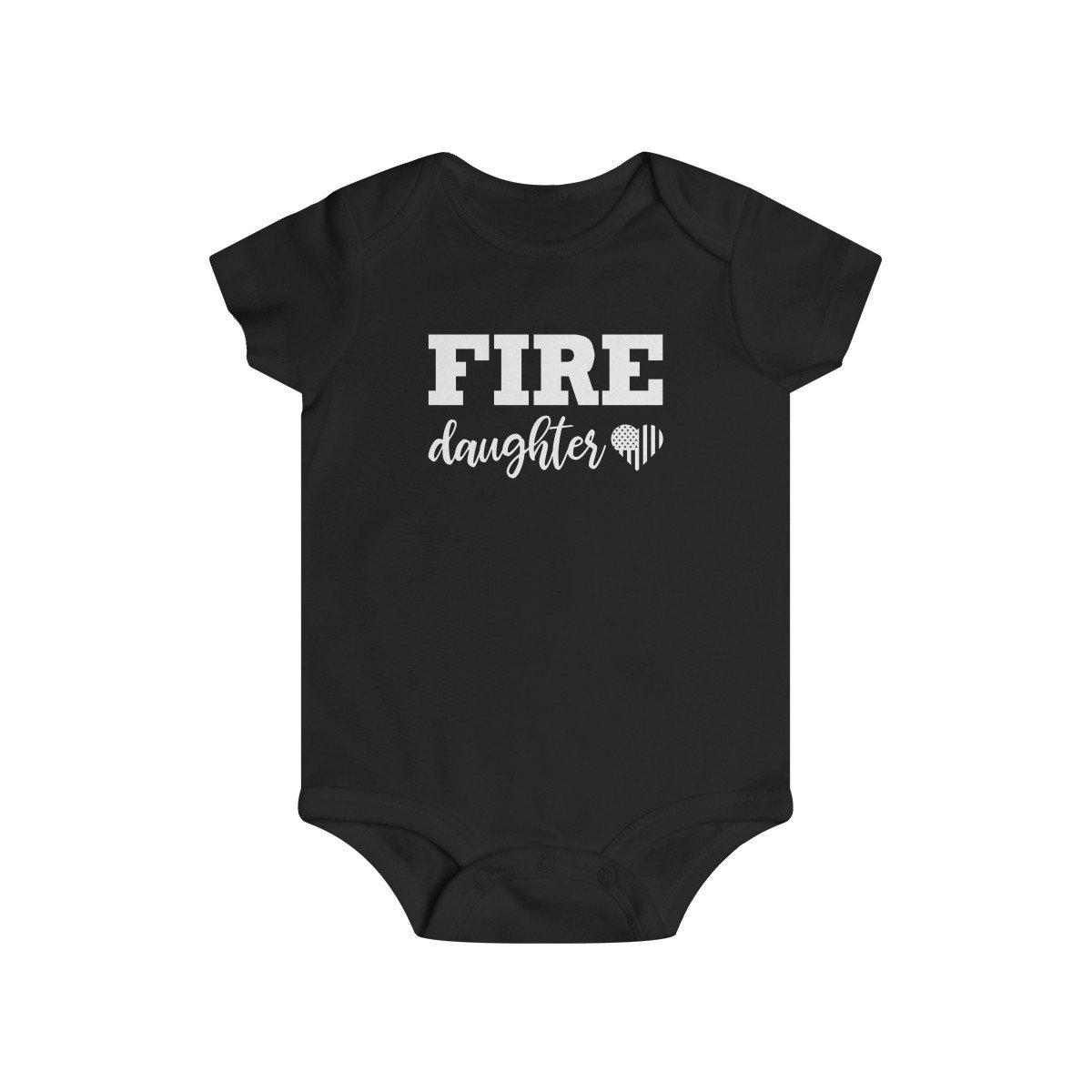Firefighter Daughter Infant Rip Snap Tee
