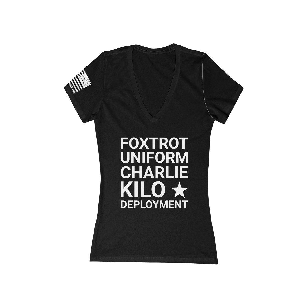 F*ck Deployment Women's V-Neck Tee