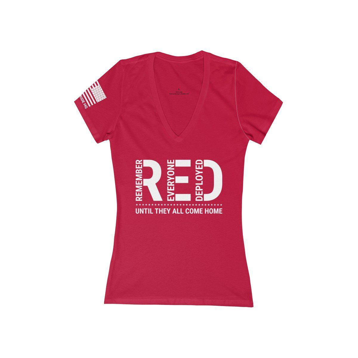 Remember Everyone Deployed Women's V-Neck Tee