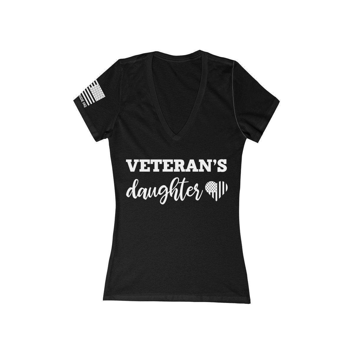 Veteran's Daughter Women's V-Neck Tee