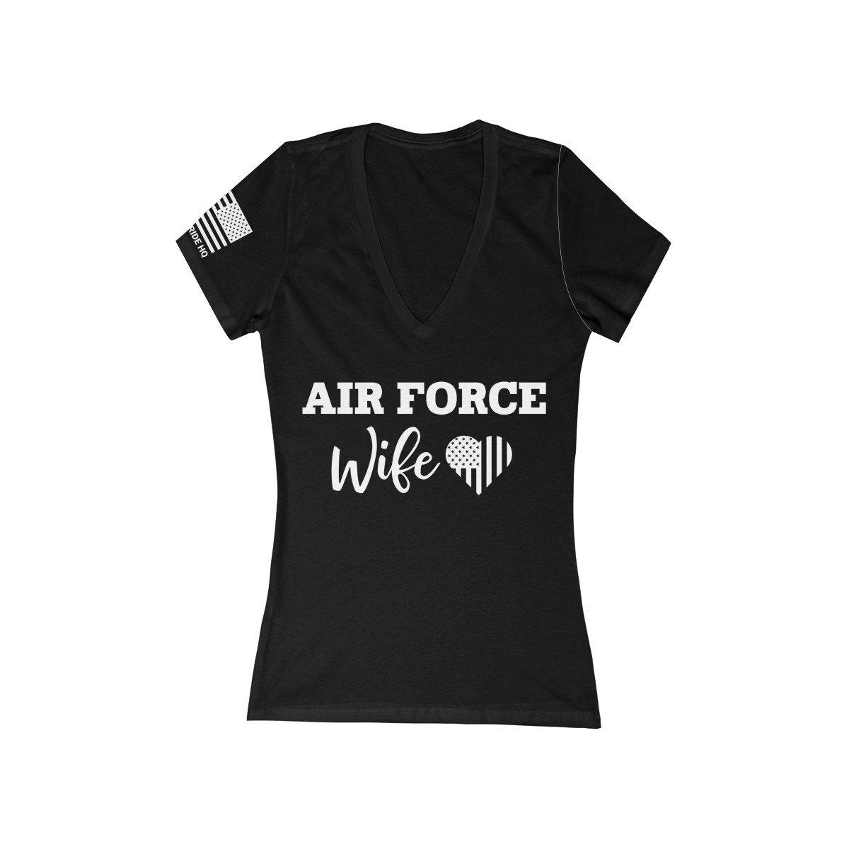 Air Force Wife Women's V-Neck Tee
