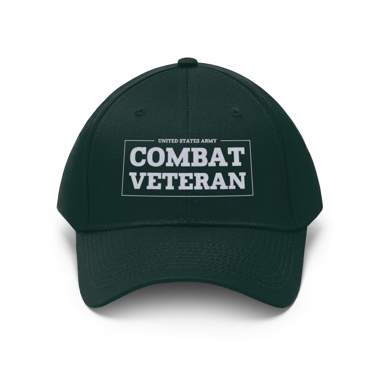 United States Army Combat Veteran Twill Hat
