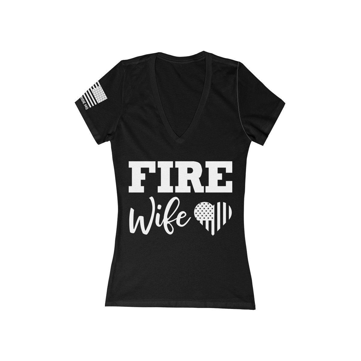 Firefighter's Wife Women's V-Neck Tee