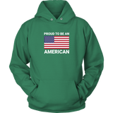Proud to be an American Design Pullover Hoodie Sweatshirt