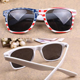 New Arrival Cycling Eyewear Vintage Square Novelty Mosaic Sun Glasses American Patriot Flag Unisex Popular Sunglasses Eyeglasses