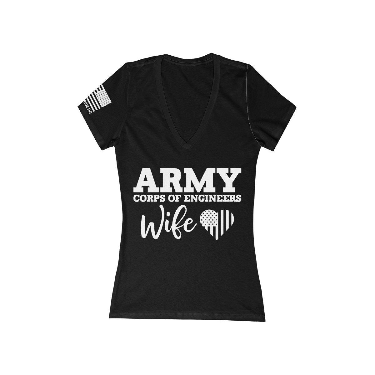 Army Corps of Engineer Wife Women's V-Neck Tee