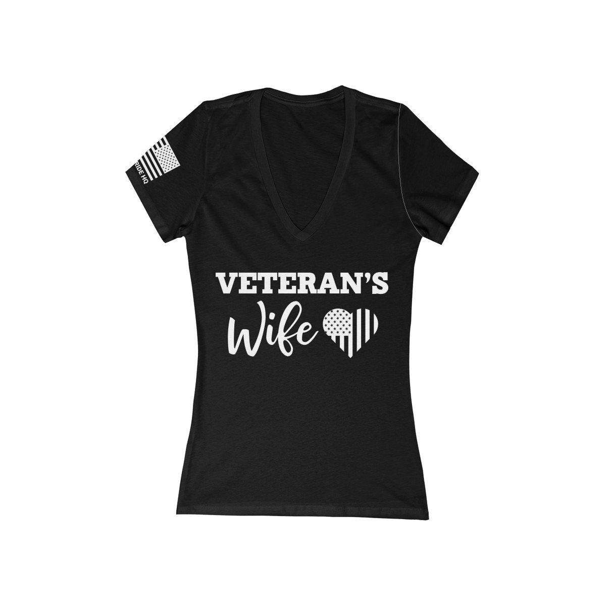 Veteran's Wife Women's V-Neck Tee