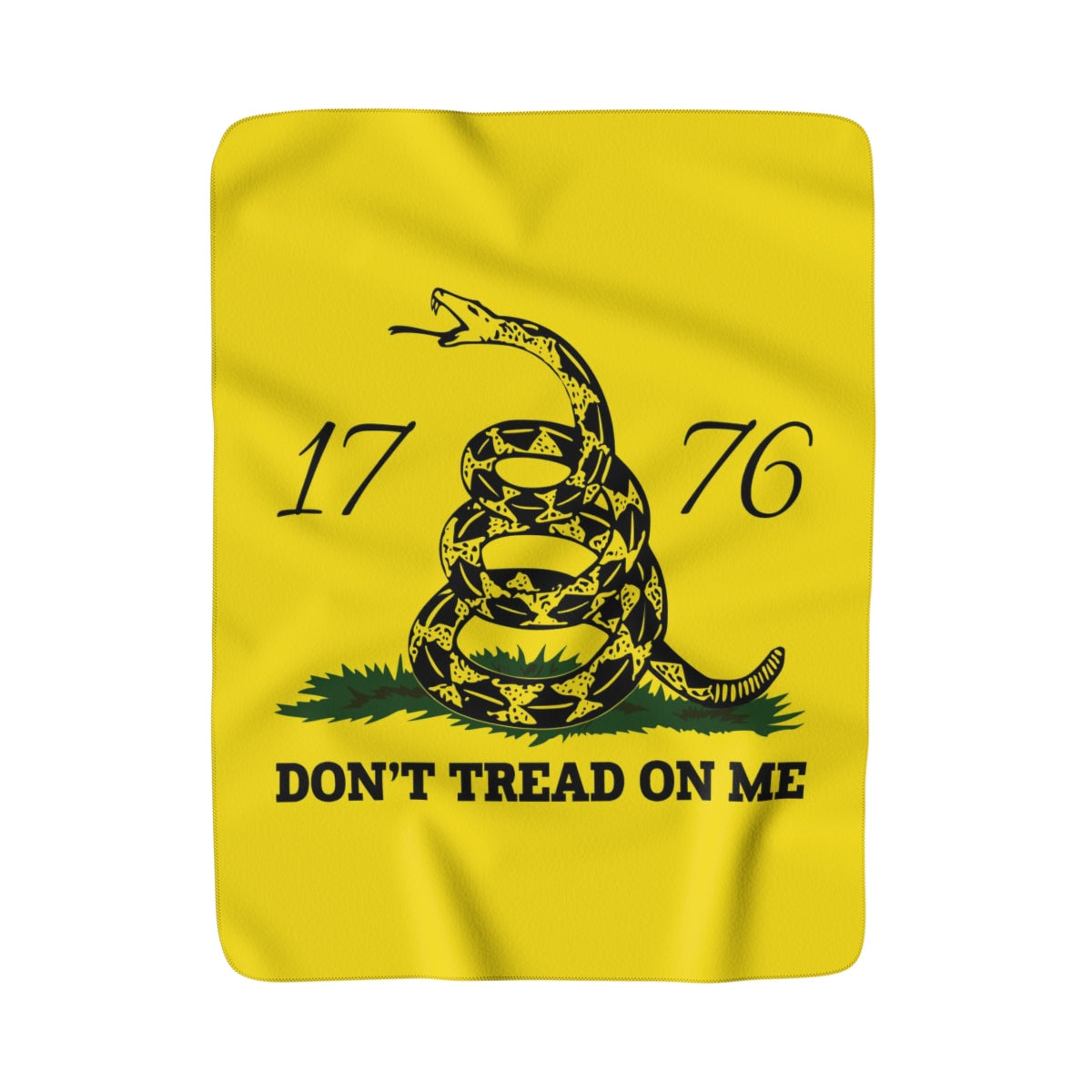 Don't Tread on Me Sherpa Fleece Blanket