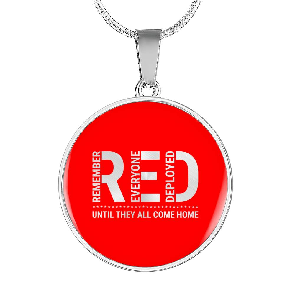 Remember Everyone Deployed Pendant Necklace