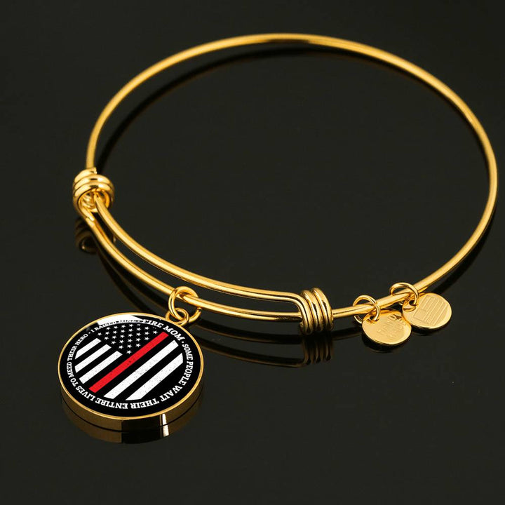 Firefighter Mom - I Raise My Hero Bangle