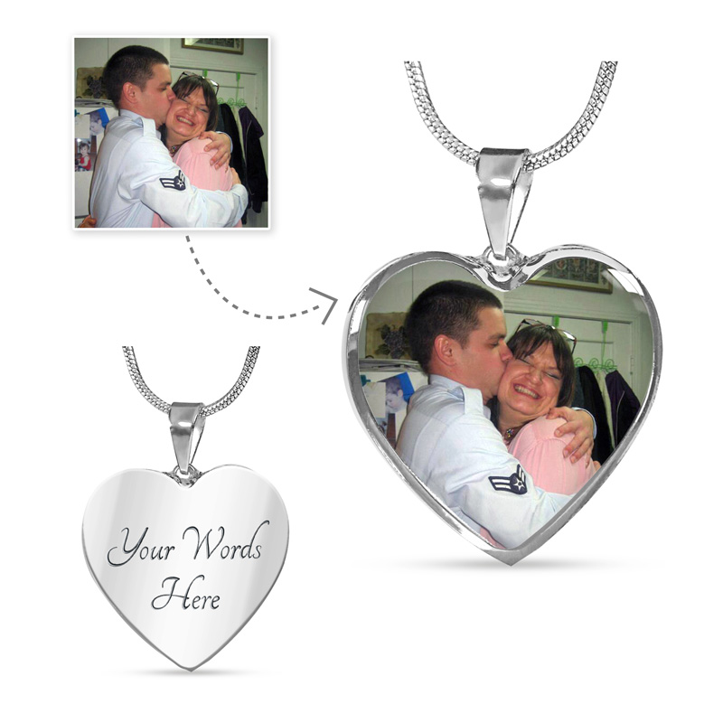 Custom Necklace with Heart Pendant