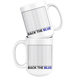 "Upload Your Own Photo - ""Back the Blue"" Coffee Mug"