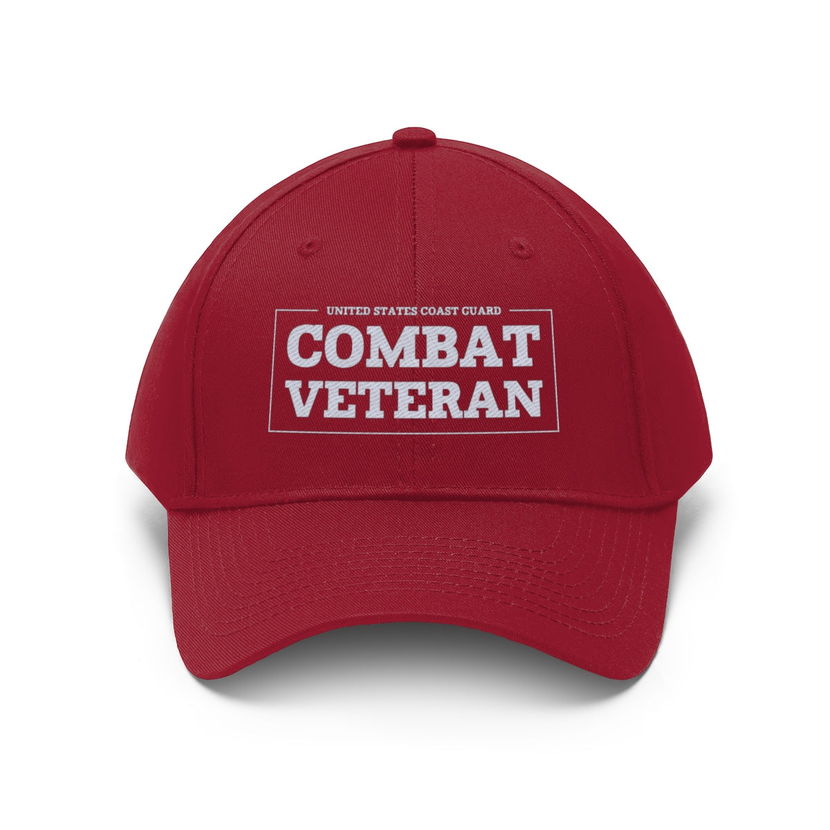 United States Coast Guard Combat Veteran Twill Hat
