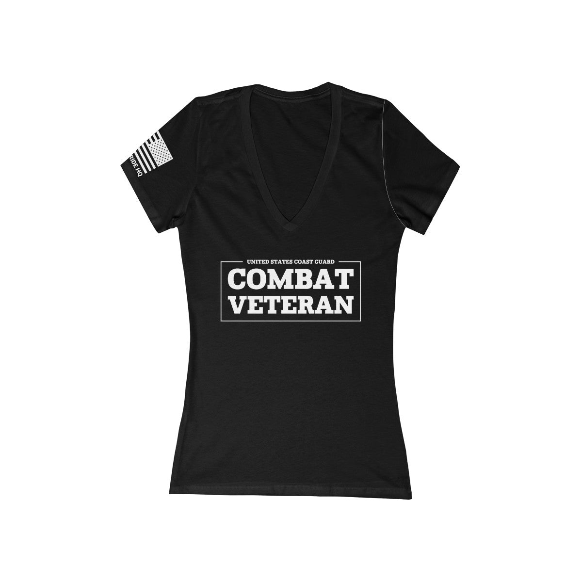 United States Coast Guard Combat Veteran Women's V-Neck Tee