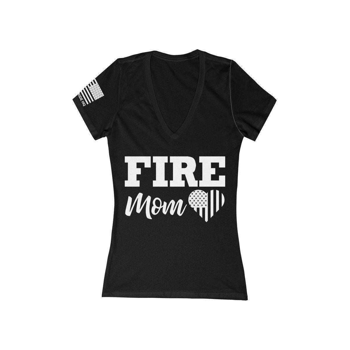 Firefighter's Mom Women's V-Neck Tee