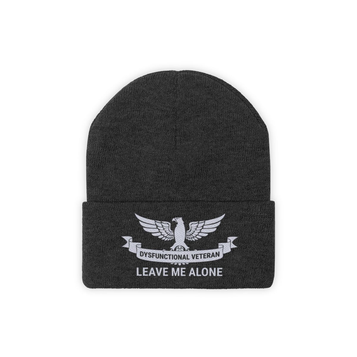 Dysfunctional Veteran - Leave Me Alone Knit Beanie