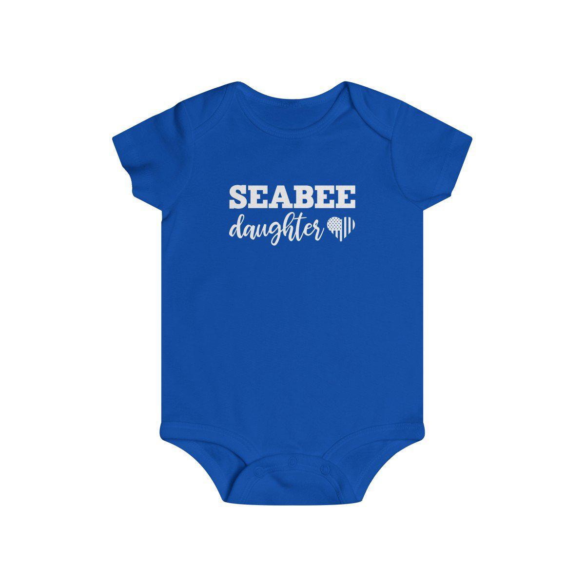 Seabee Daughter Infant Rip Snap Tee