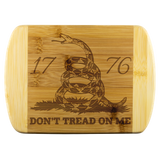 Don't Tread on Me Laser Etched Cutting Board