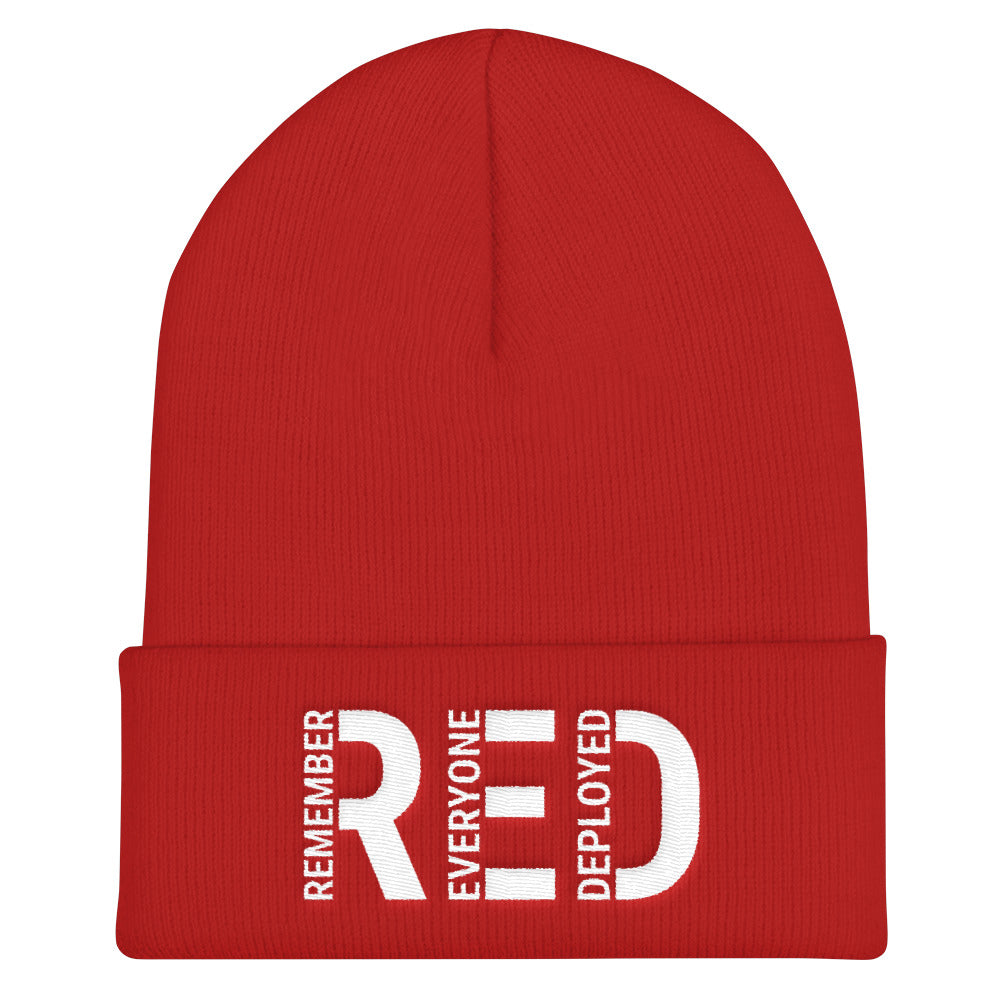 Remember Everyone Deployed Cuffed Beanie