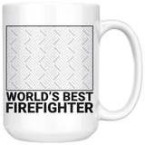 Upload Your Own Photo - World's Best Firefighter 15 Oz Coffee Mug