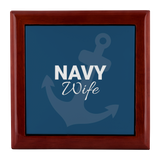 Navy Wife Jewelry Box