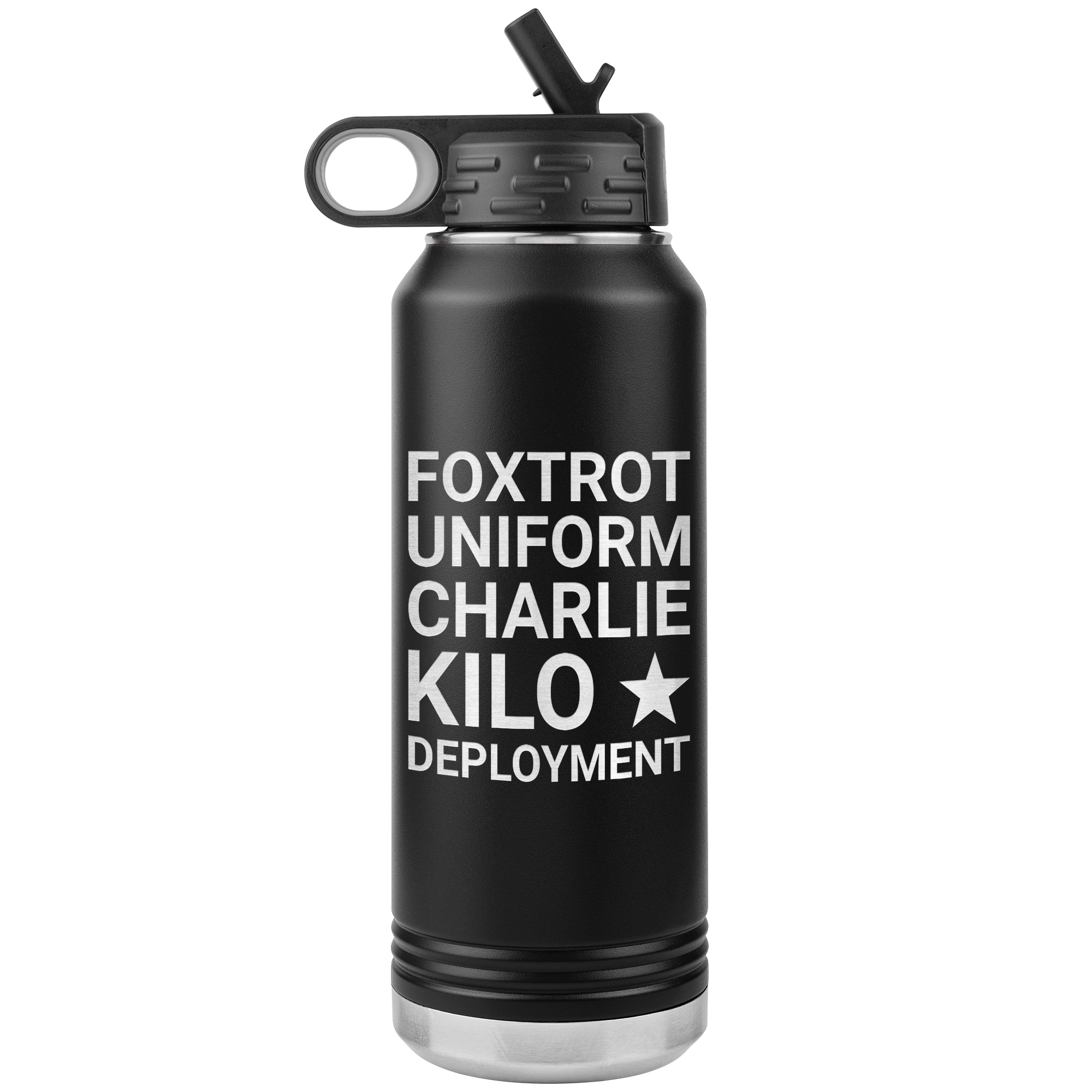 F*ck Deployment 32oz Water Bottle Tumbler