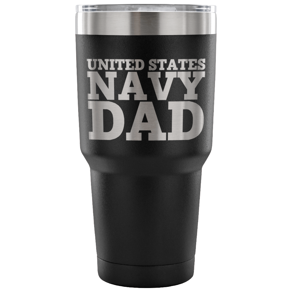 Navy Dad 30oz Tumbler
