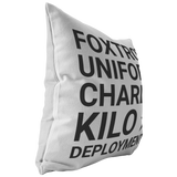 F*ck Deployment White Pillow
