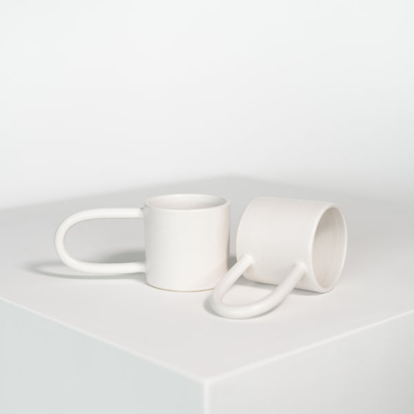 Long Handle Mug in White