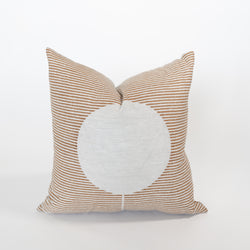 Circle Line Block Print Pillow