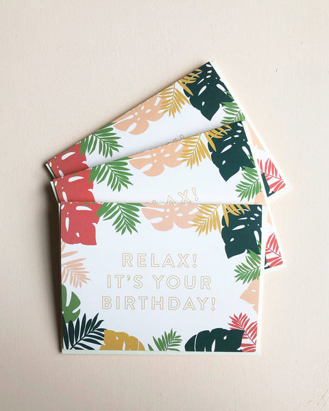 Boxed Set Birthday Palms Card