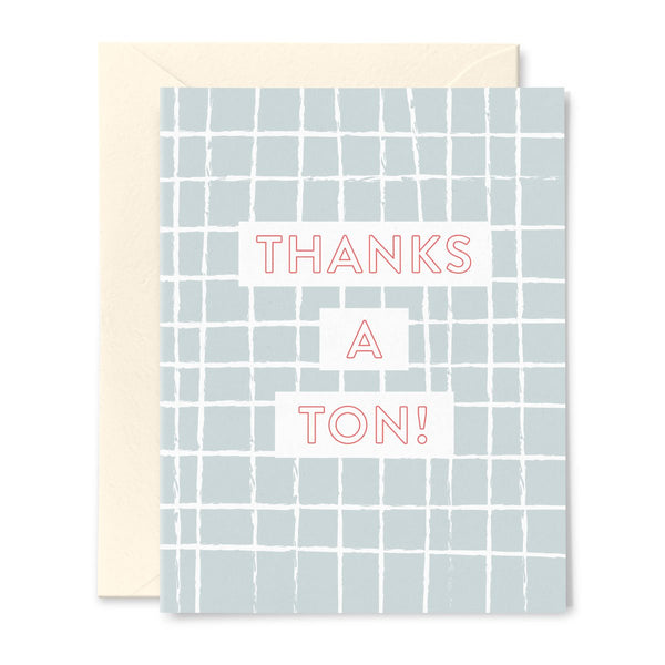 Thanks a Ton! Window Pane Thank You Card