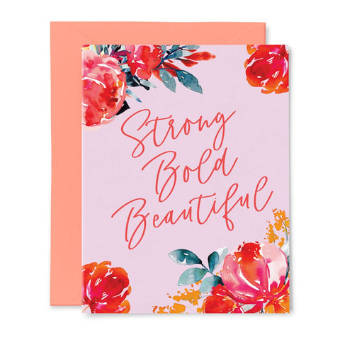 The Emma Card | Floral Strong Bold Beautiful Quote Card