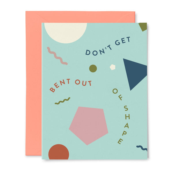 Bent Shapes | Get Well Soon Card