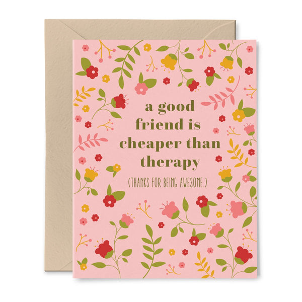 Funny Floral Friendship Card