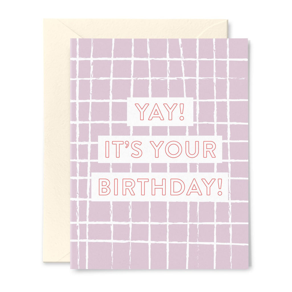 Yay! It's Your Birthday Window Pane Card
