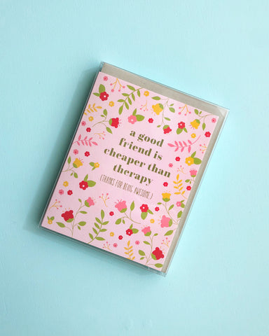 Boxed Set Funny Floral Friendship Card