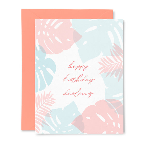 Monstera Palm Birthday Card