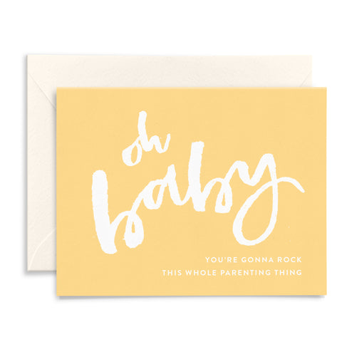 Oh Baby | Yellow Watercolor Card